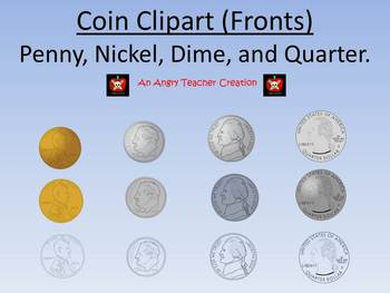 Nickel clipart teacher. Coin penny dime and