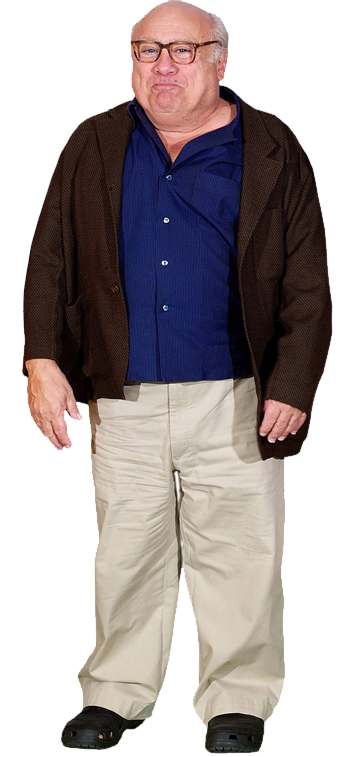 Danny devito face png. Cardboard cutout lifesize standee