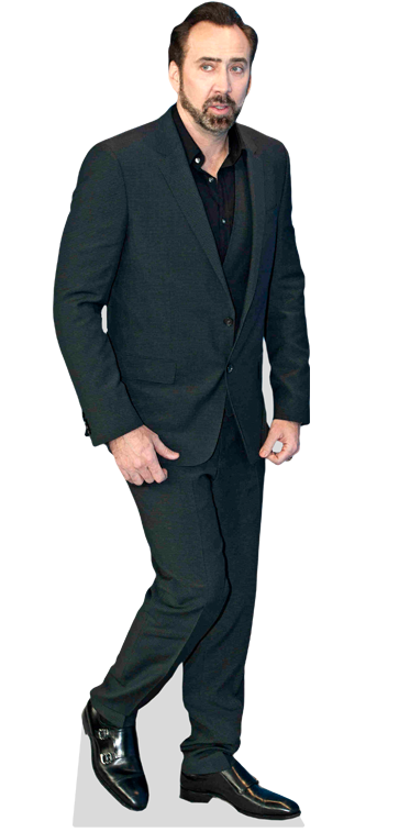 Nicolas cage face cut out png. Blue suit cardboard cutout