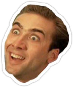Nicolas cage meme png. Download inspirational crop out