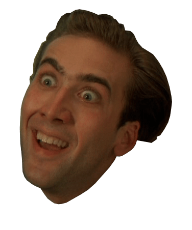 Nicolas cage face cut out png. Surprised transparent stickpng download