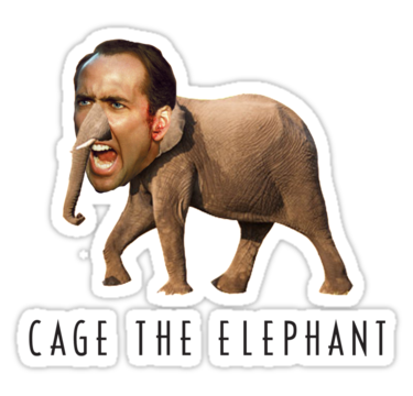 Nicolas cage meme png. The elephant by ticklish