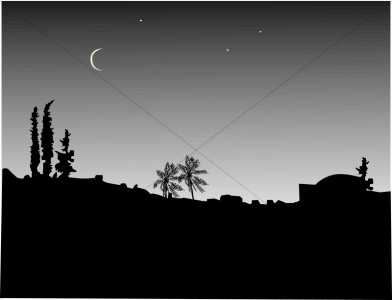 Night clipart dark night. Over the town nativity