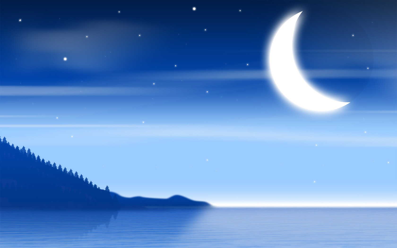 Night clipart night scenery. Nature free illustration of