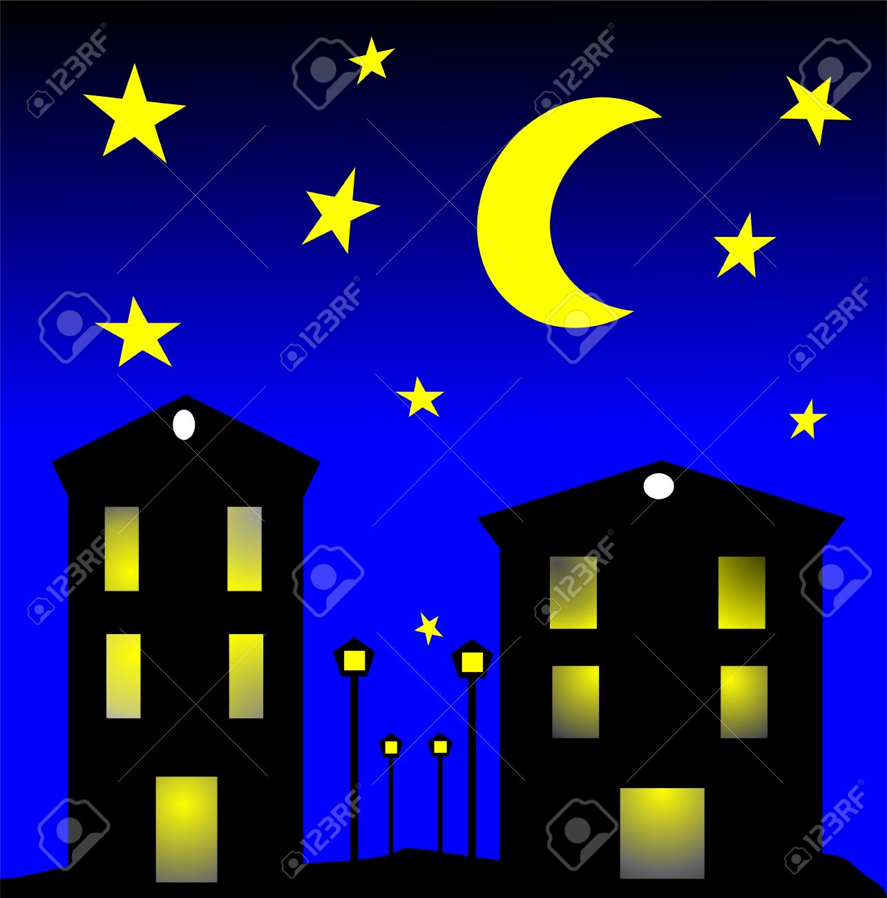 Night clipart. City by clip art