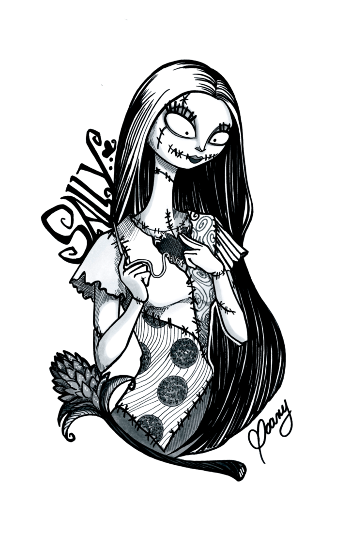 Nightmare before christmas night shade labels black and white png. Inktober sally by weirdream