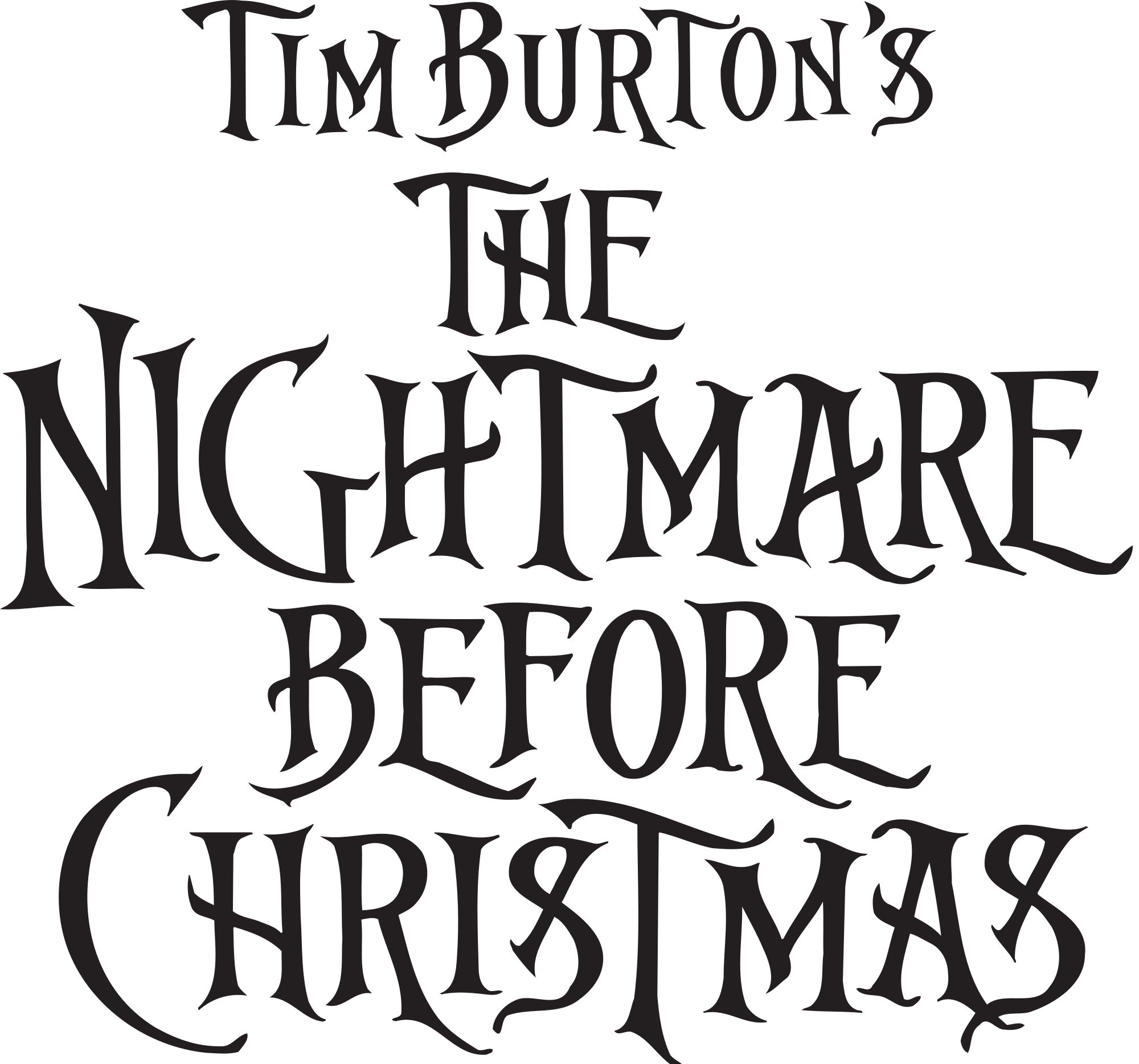 Nightmare before christmas png. File the chrstmas logo