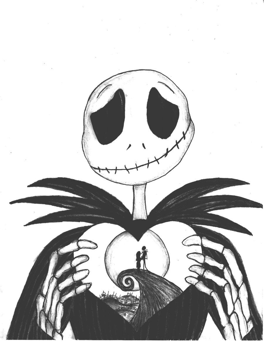 Nightmare before clipart jack skellington. Christmas coloring pages the