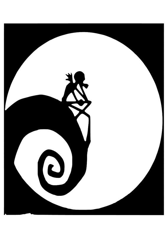 Nightmare before clipart jack skellington. And sally silhouette at