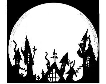Nightmare before clipart silhouette. Christmas google search halloween