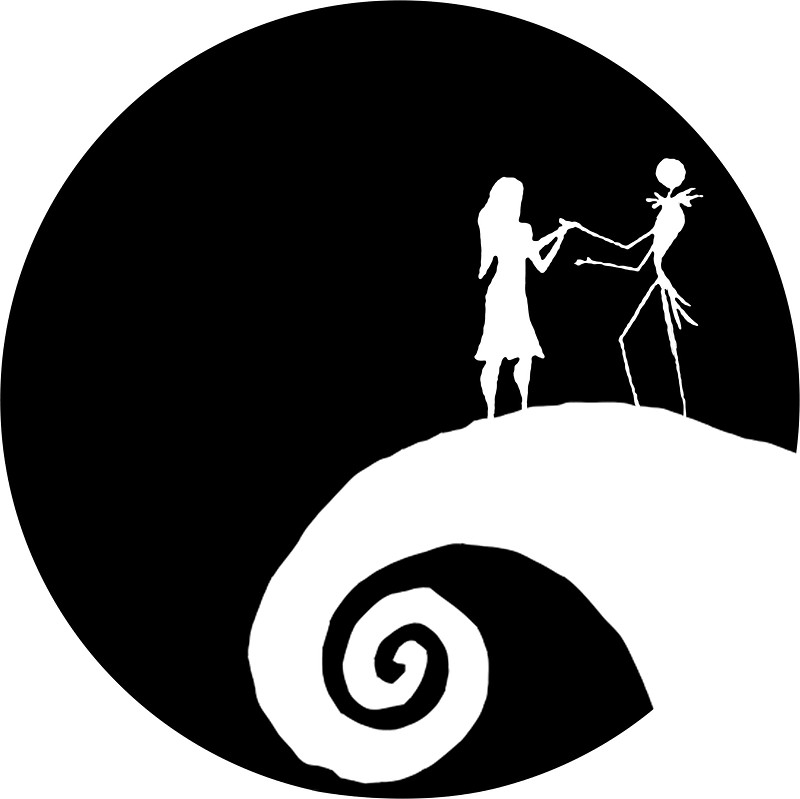 Nightmare before clipart silhouette. Christmas at getdrawings com