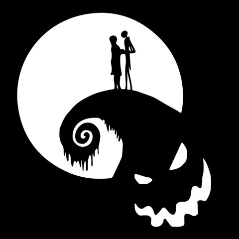 Nightmare before clipart silhouette. Best christmas vinyl