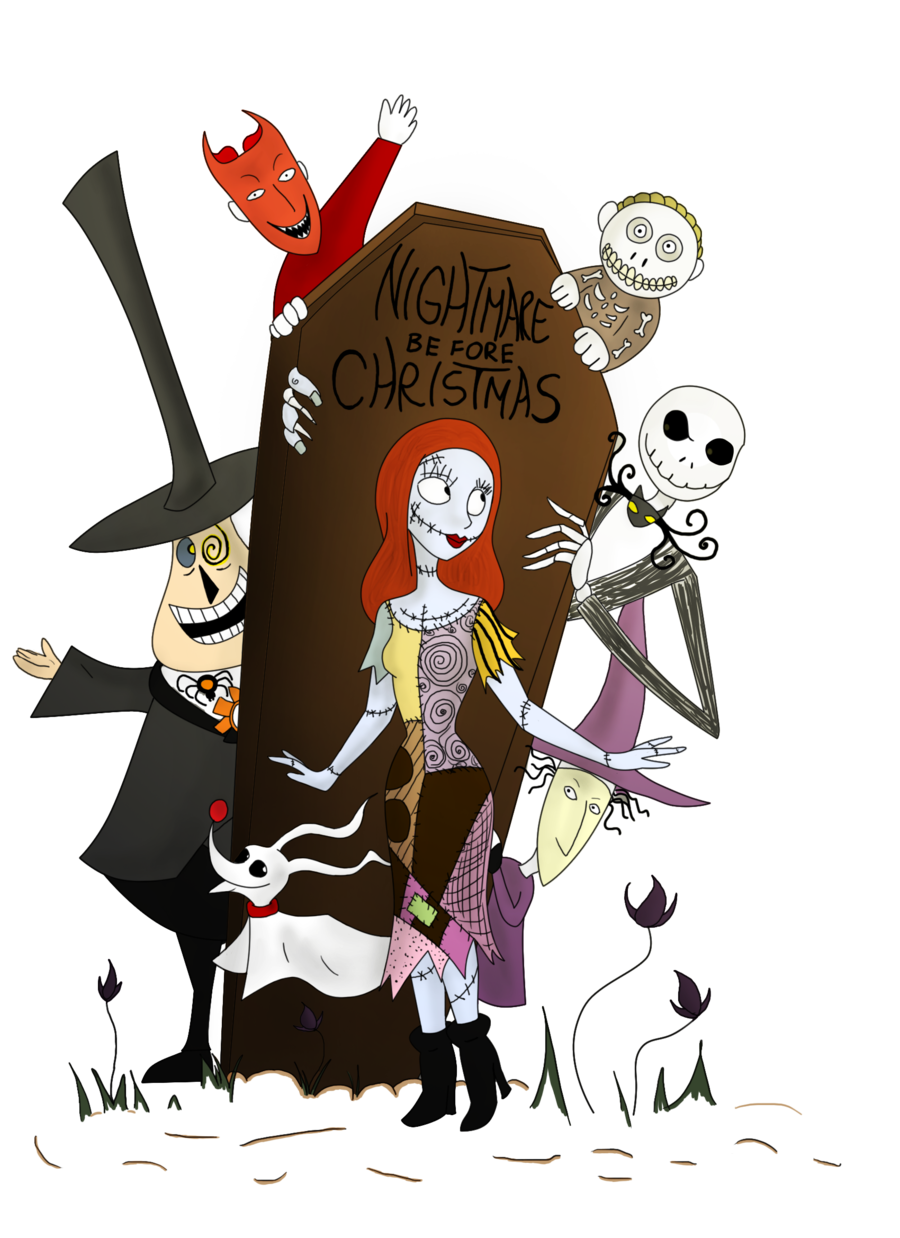 Nightmare before clipart svg. Christmas group with items