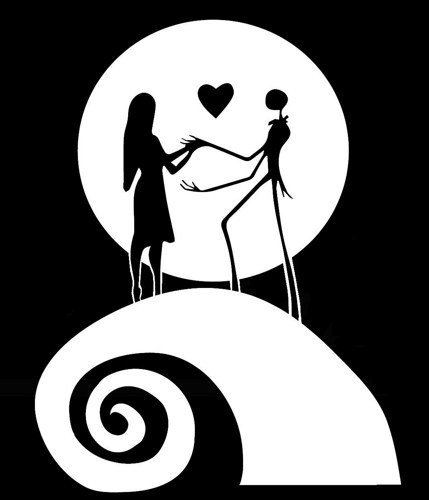 Nightmare before clipart svg. Jack and sally silhouette