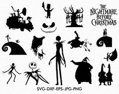 Nightmare before clipart svg. Christmas collection dxf jack