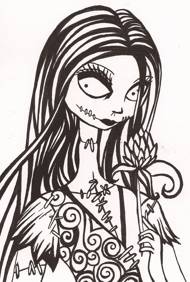 Nightmare before clipart tattoo. Sally christmas drawing black