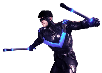 Nightwing arkham knight png. Render by spider man