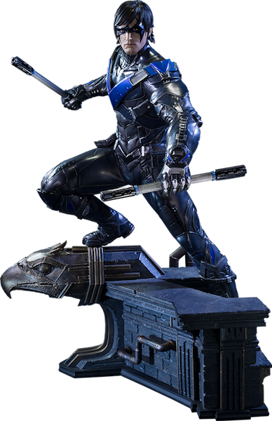 Nightwing arkham knight png. Dc rd scale statue