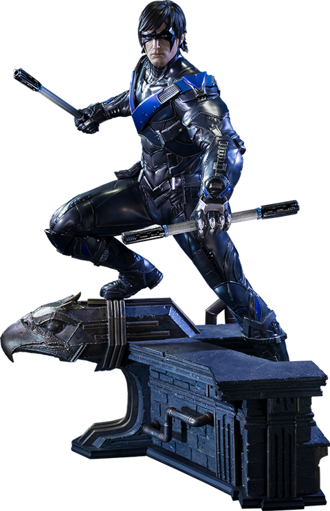 Escrima sticks nightwing png. Dc comics statue by
