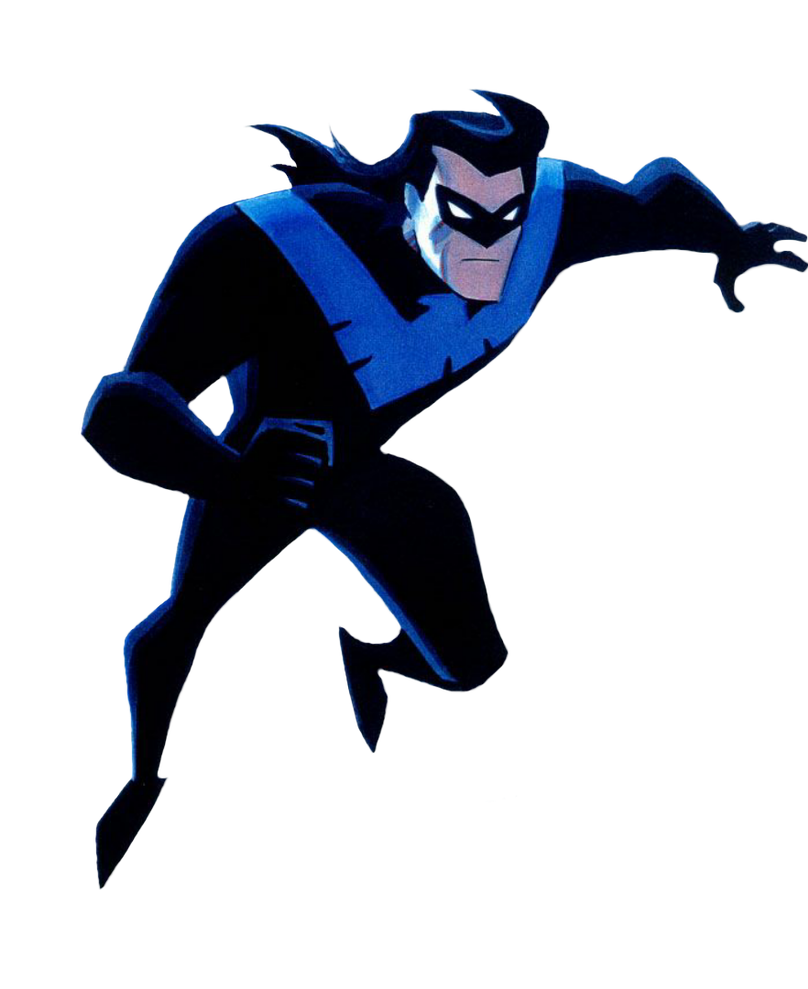 Nightwing cartoon png. Transparent by asthonx on