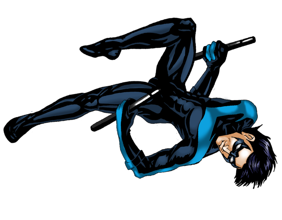 Nightwing cartoon png. Transparent mart