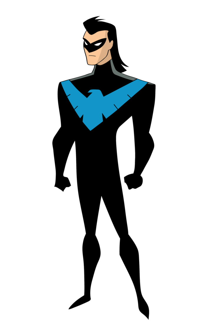 Nightwing cartoon png. By dawidarte on deviantart