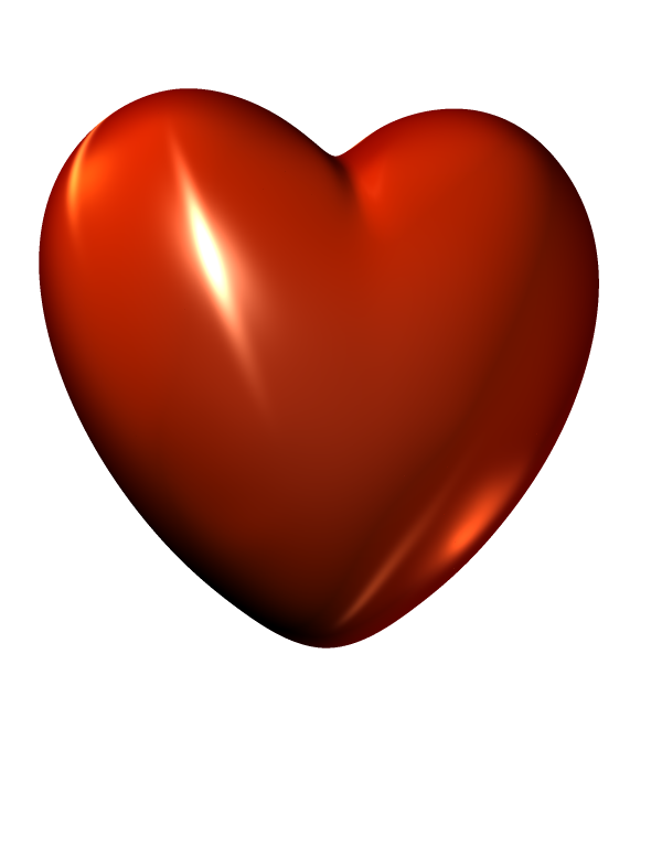 3d heart png. Download d red file