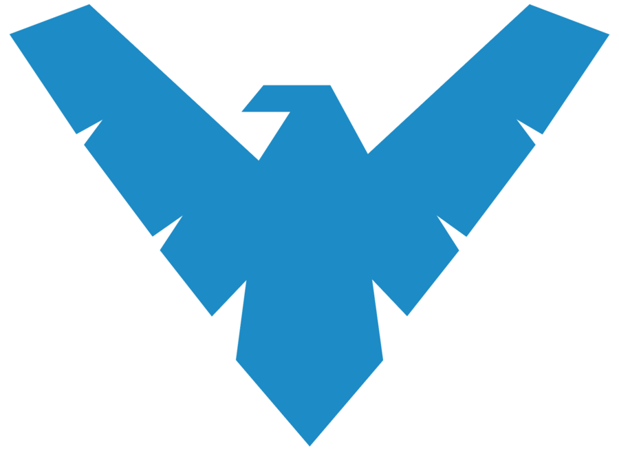 Nightwing logo red hd png. By mr droy on