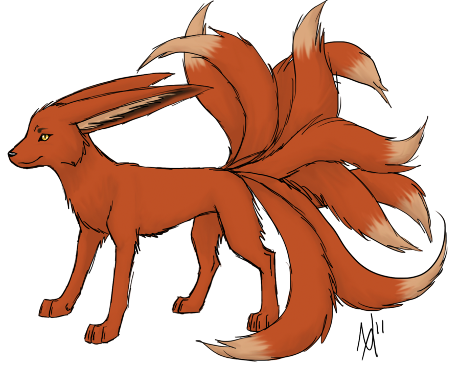 Nine tailed fox png. Karene the by vexiwolf