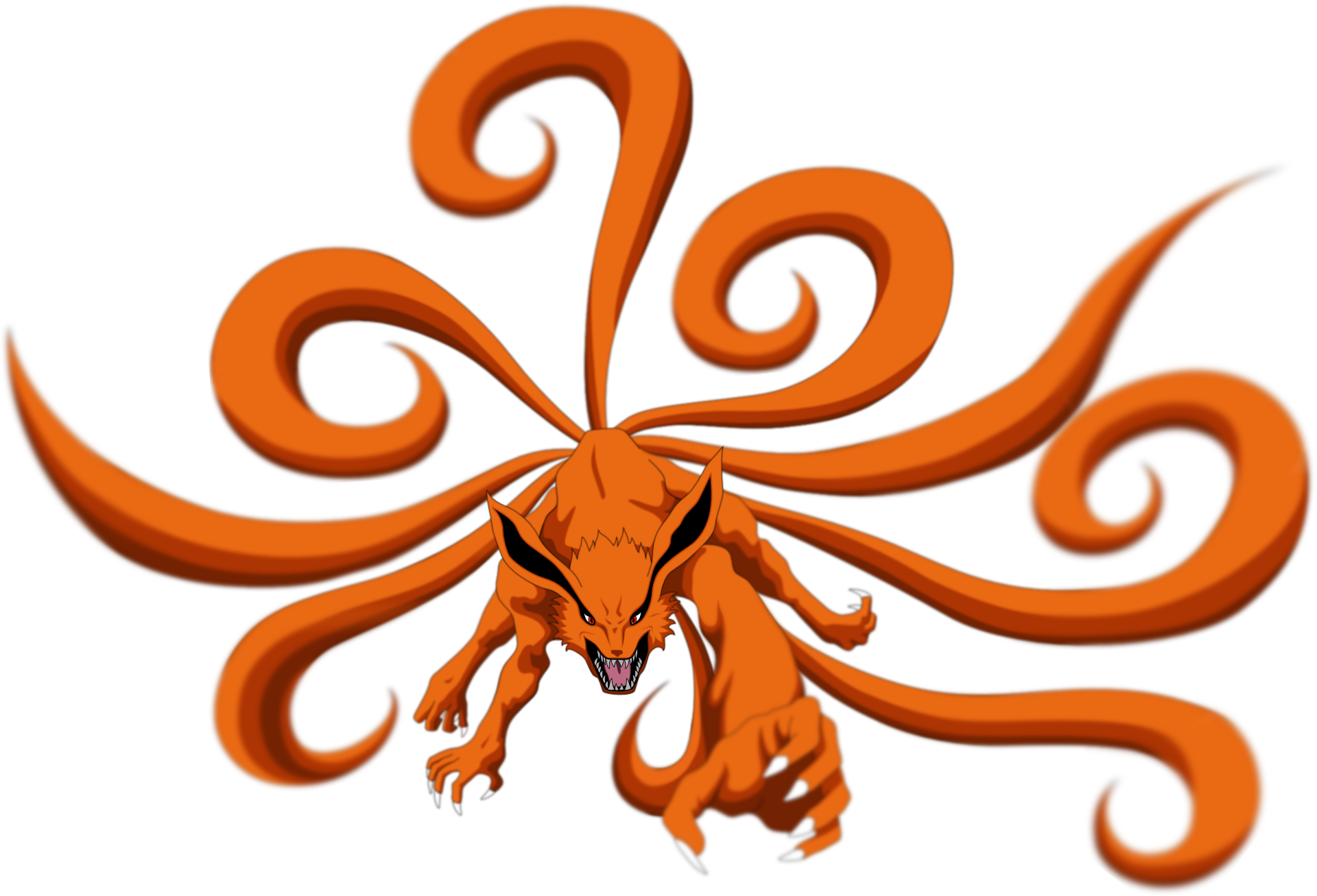 Nine tailed fox png. Naruto the tail by