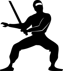 Pathetic clip art at. Ninja clipart picture black and white library