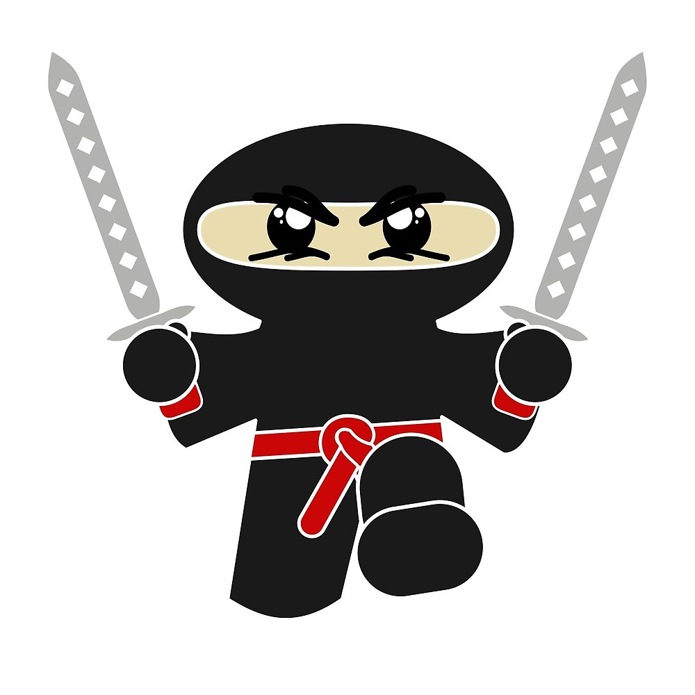 Ninja clipart ninja warrior. Cute cartoon by germandesigns