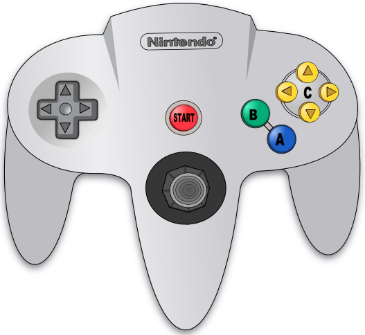 Nintendo 64 drawing png. Controller by theschneidi