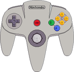 Nintendo 64 drawing png. Controller by blueamnesiac on