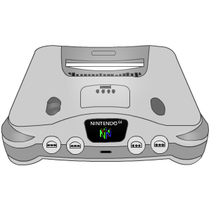 Nintendo 64 drawing png. Silver icon icons free