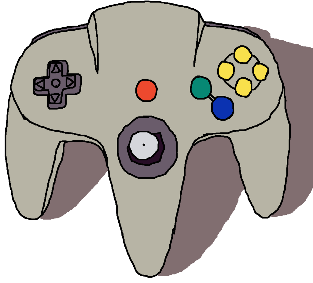Nintendo 64 drawing png. Controller playstation game controllers