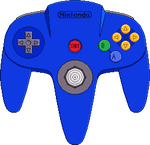 Nintendo 64 drawing png. Controller blue by blueamnesiac