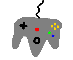 Nintendo 64 drawing png. Controller by foxp drawception