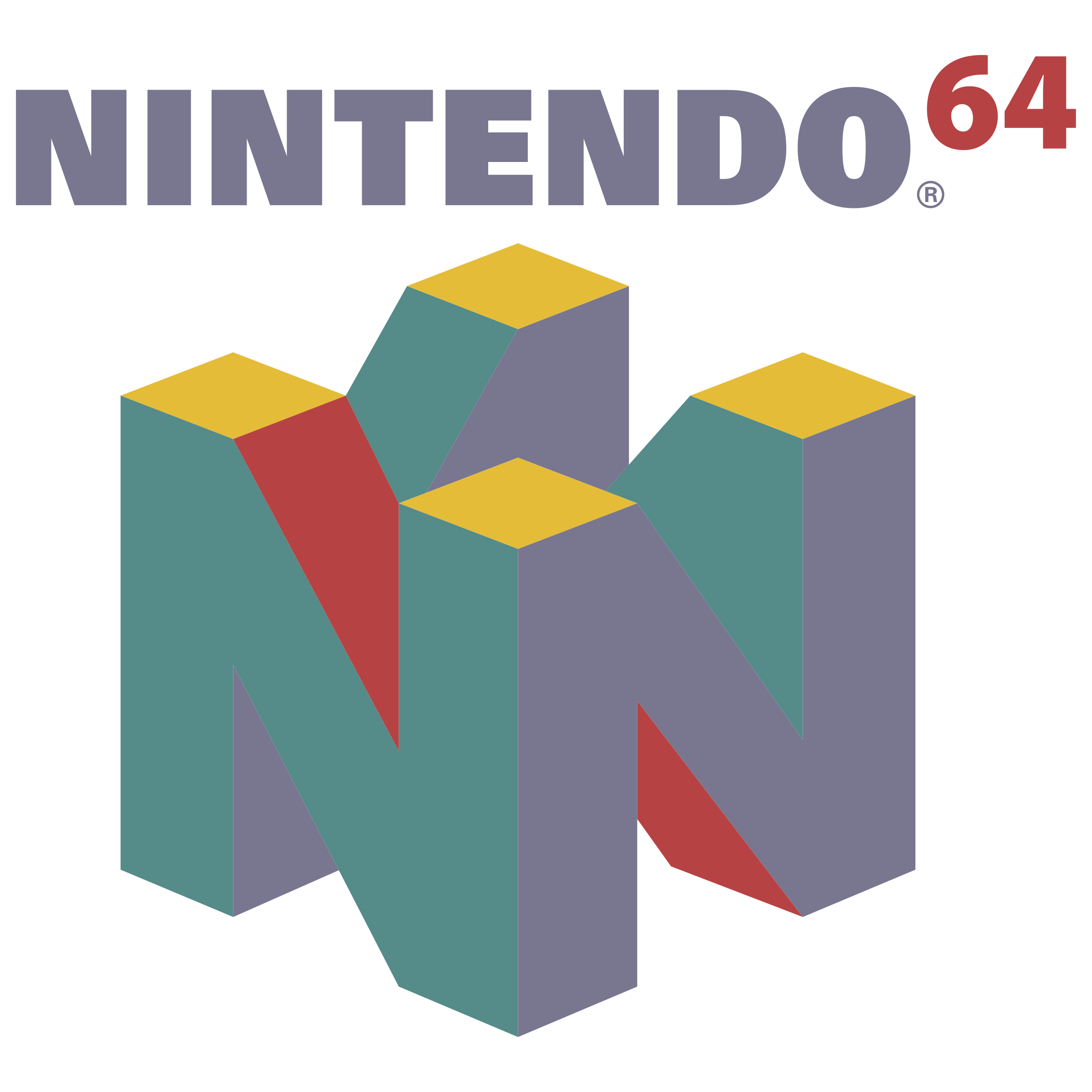 Nintendo 64 logo png. Transparent svg vector freebie