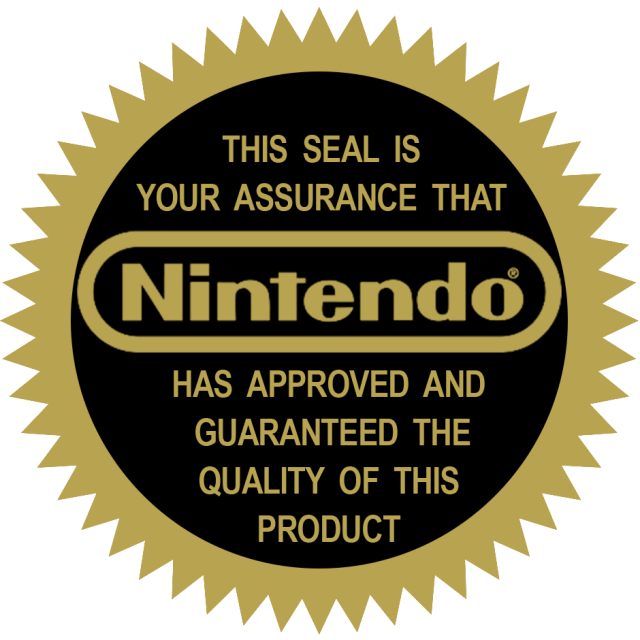 Official nintendo seal png
