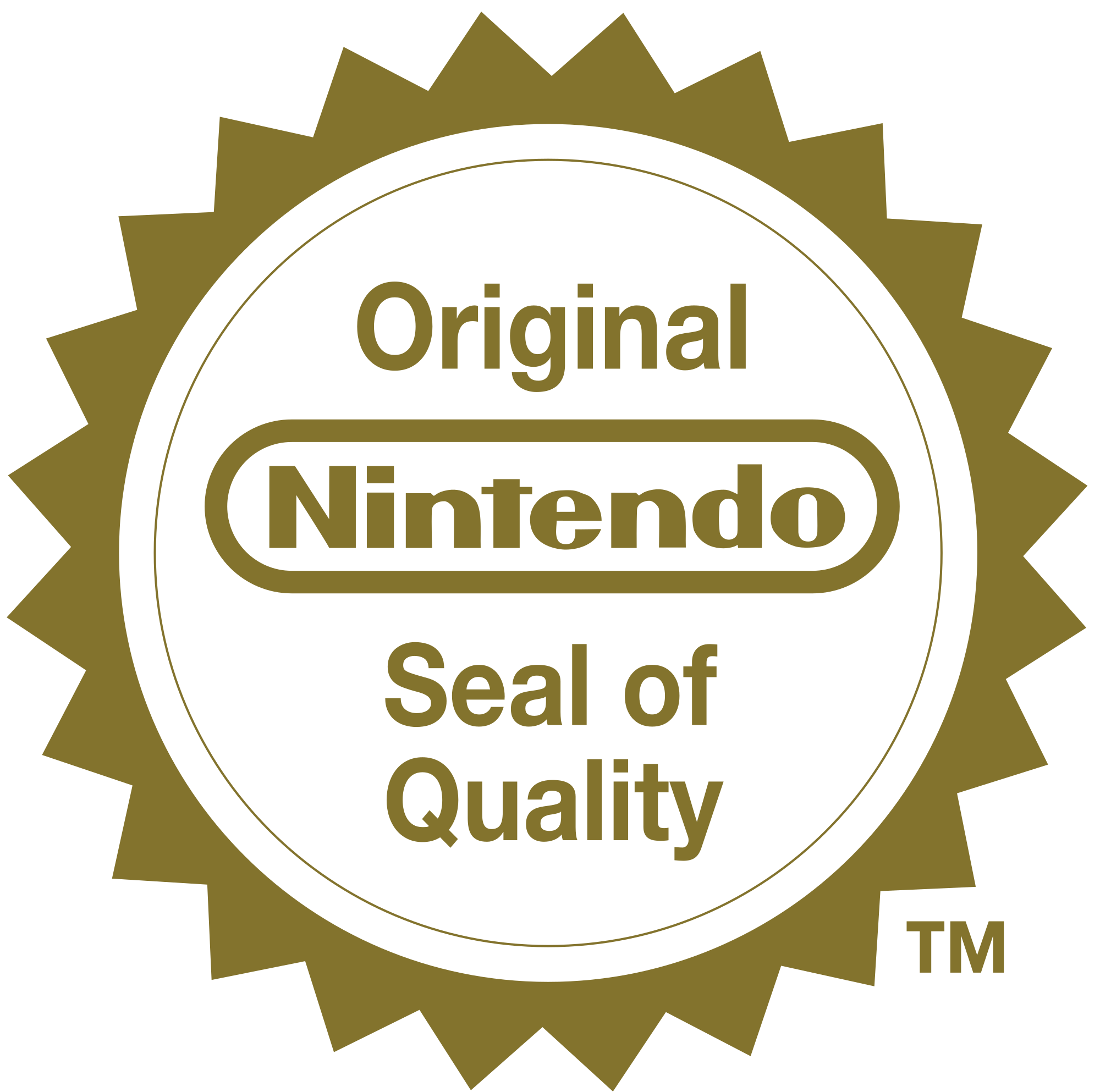 Nintendo seal of quality png