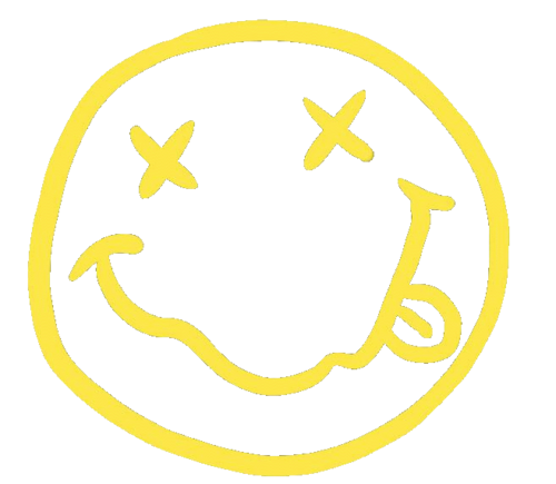 Nirvana smiley face png. Image about music in