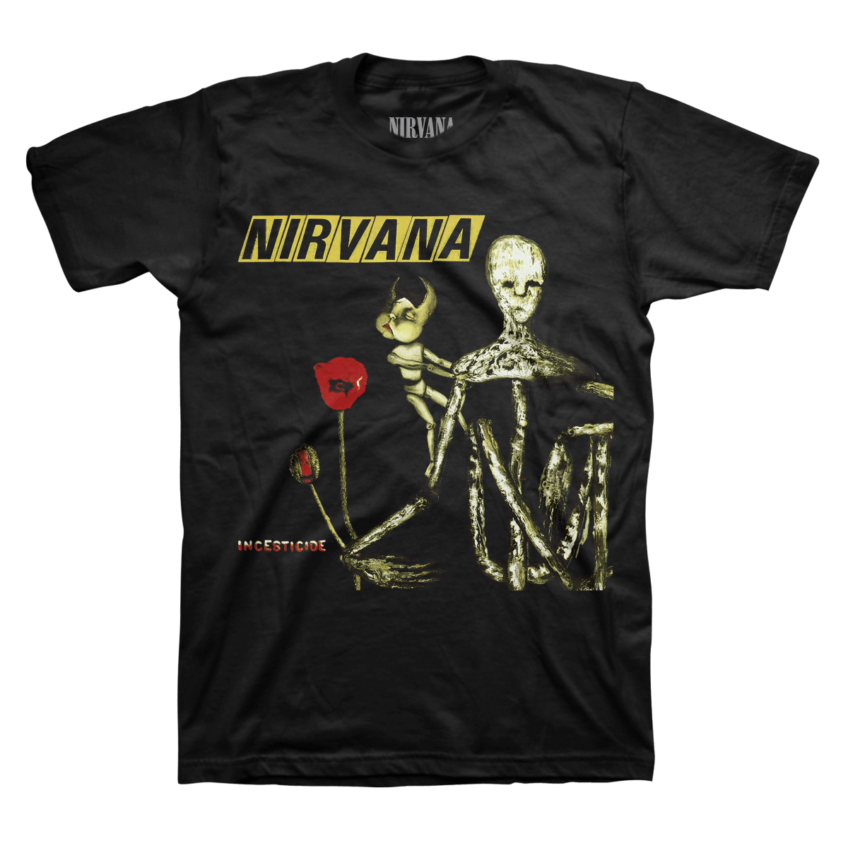 Nirvana transparent black and white. Incesticide tee official store