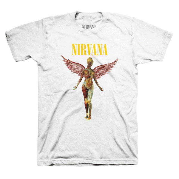 Nirvana transparent wings. In utero tee official