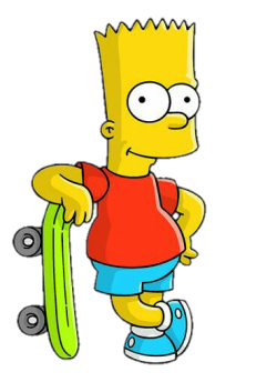 Simpsons transparent tumblr. Bart simpson transparency los
