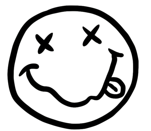 Nirvana transparent smiley. Image about tumblr in