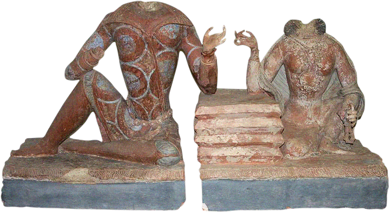 Nitch for statue png. Sarcophagus cover princely couple