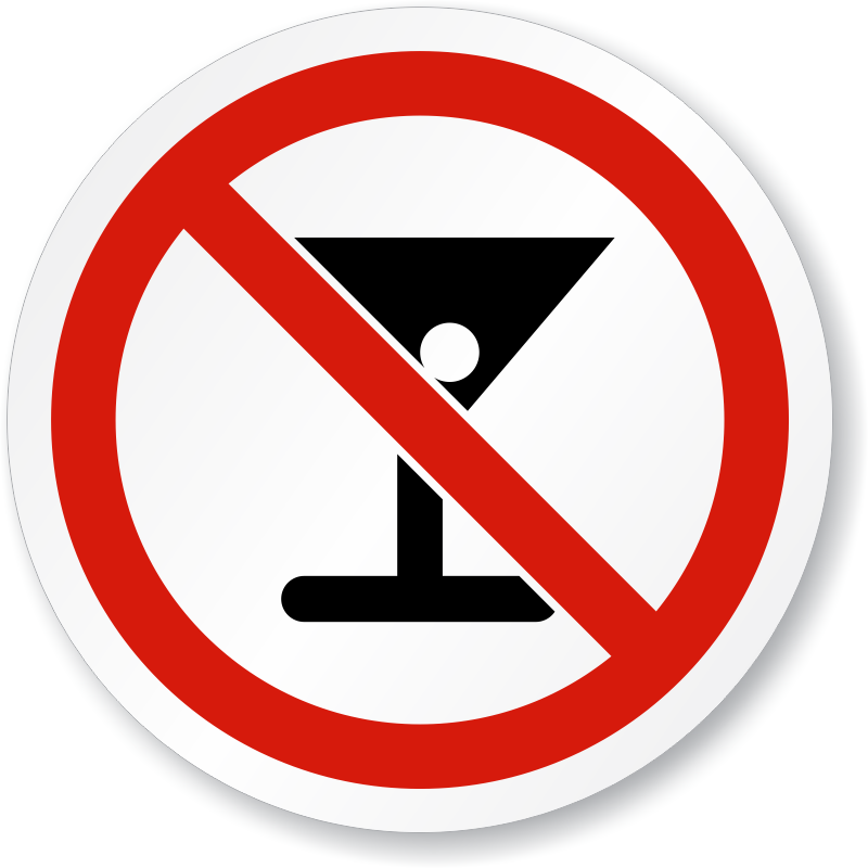 Signs vector creative. No alcohol alcoholic beverages