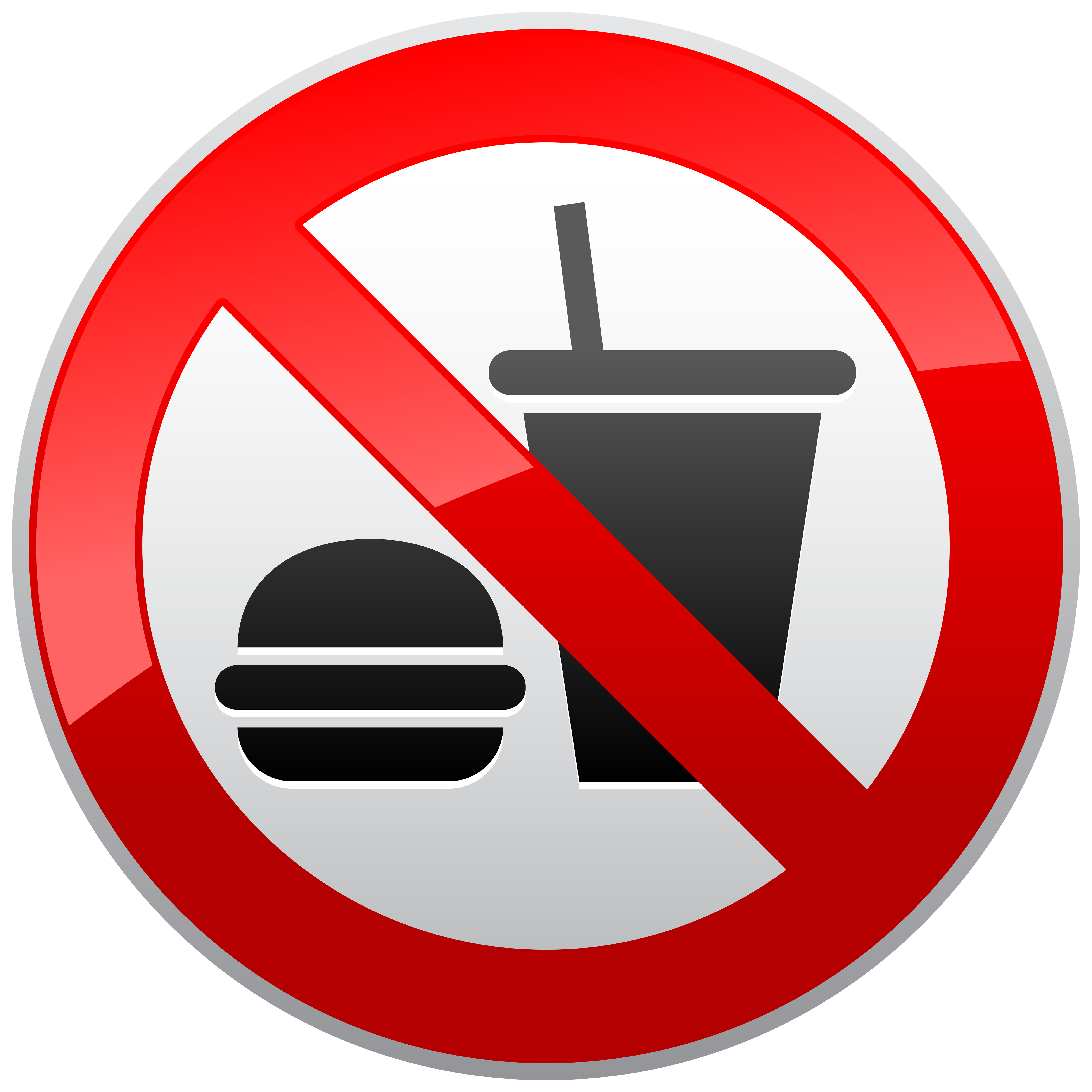 No food no drink sign png