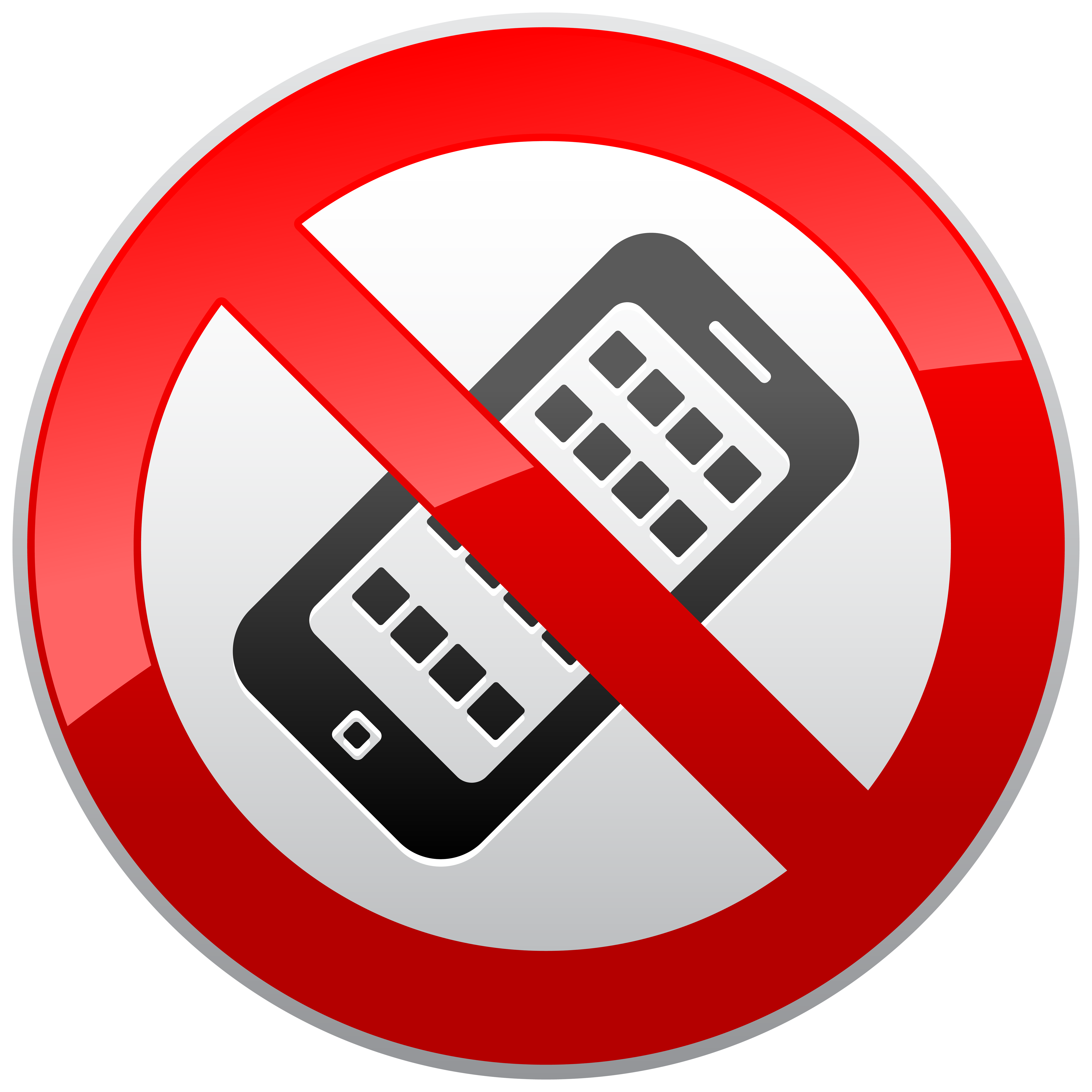 No phone png. Activated mobile phones prohibition